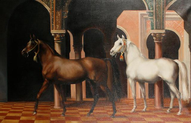 John Rattenbury Skeaping, RA (British, 1901-1980) Royal Moroccan Stallions