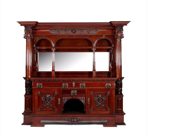 A large and impressive late Victorian mahogany mirror-back sideboard