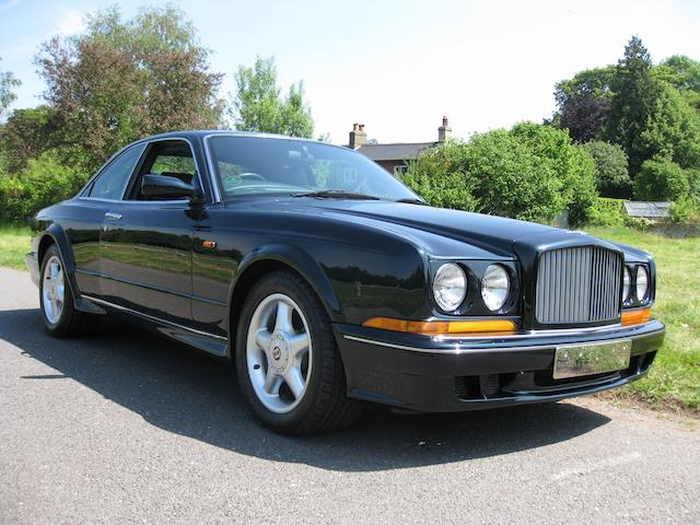 25,000 miles from new,1996 Bentley Continental T Coupé  Chassis no. SCBZU23C8UCH53364