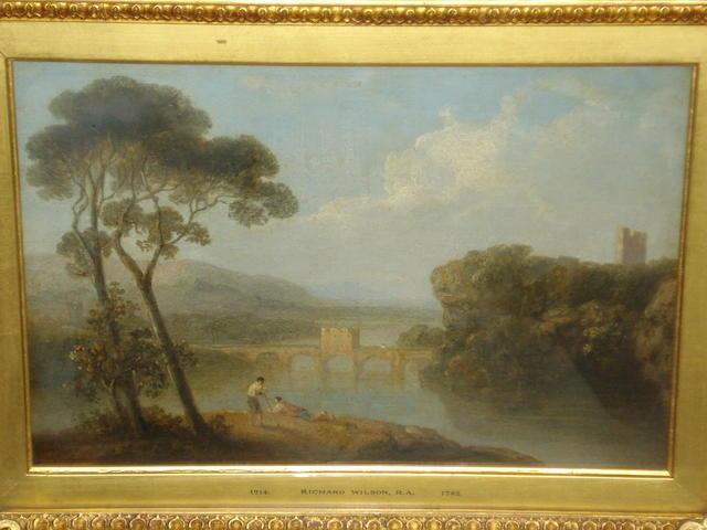 Follower of Richard Wilson (British, 1752-1807) A river landscape,