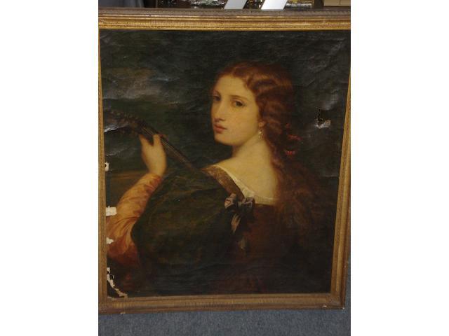 English School (19th Century) Portrait of a lady,