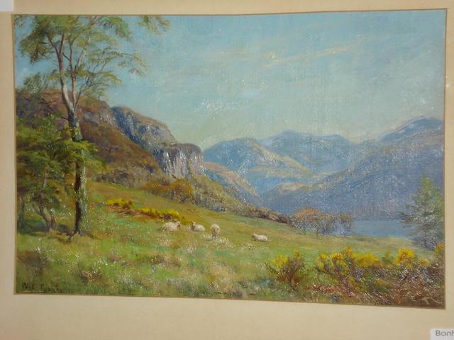 William Lakin Turner (British, 1867-1936) Scafell - Derwentwater, August 1911,