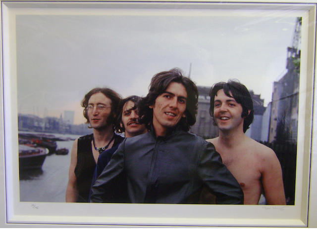 Tom Murray: 'Scene From The Thames I', The Beatles, Wapping Pier Head, 28th July 1968,