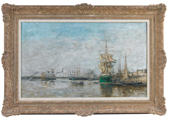 Eugène Louis Boudin (French, 1824-1898) Bordeaux. Le port