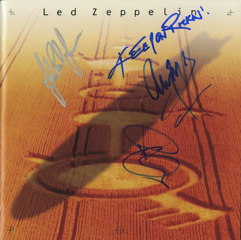 An autographed Led Zeppelin 'Remasters' box set,