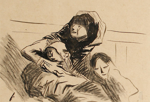 Jean Louis Forain (French, 1852-1931) Mother and children