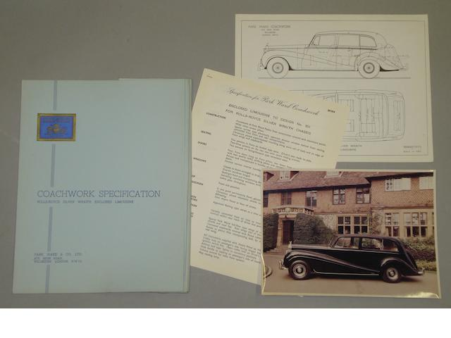 A Park Ward Coachwork Specification for the Rolls-Royce Silver Wraith Enclosed Limousine,