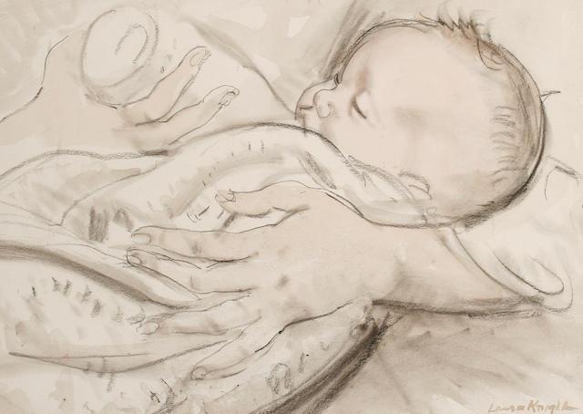 Dame Laura Knight, R.A, R.W.S (British, 1877-1970) Feeding the baby