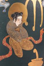 A Japanese Satsuma vase  Meiji Century