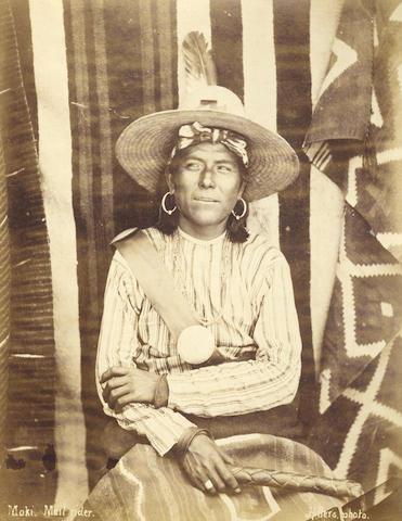 AMERICAN SOUTHWEST HILLERS (JOHN KARL) Moki [Hopi]. Mail rider