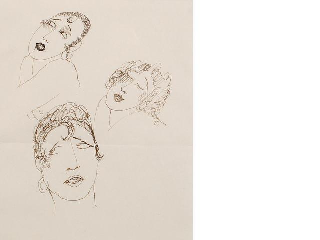 Jean Cocteau (French, 1892-1963) Josephine Baker