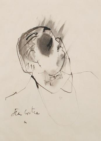 Jean Cocteau (French, 1892-1963) Sergei de Diaghilev