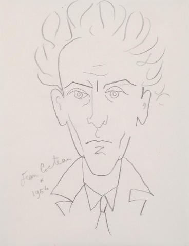 Jean Cocteau (French, 1892-1963) Self Portrait