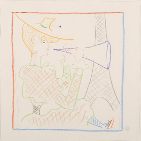 Jean Cocteau (French, 1892-1963) Dessin pour Les Maries de la Tour Eiffel, circa 1940