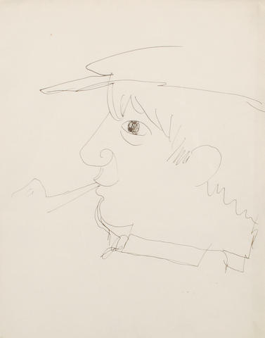 Jean Cocteau (French, 1889-1963) Portrait of Pablo Picasso
