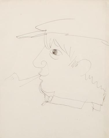 Jean Cocteau (French, 1892-1963) Portrait of Pablo Picasso
