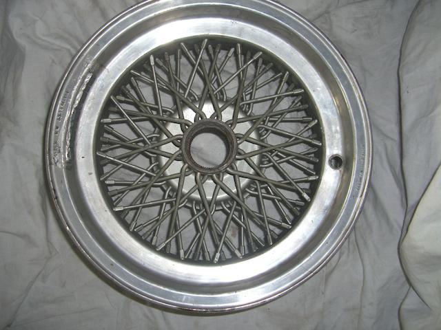 A Borrani wire wheel,