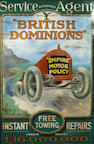 A British Dominions 'Empire Motor Policy' enamel advertising sign, circa 1910,