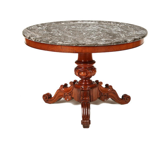 A Louis-Philippe walnut centre table