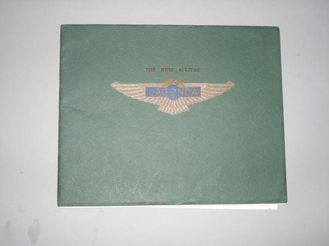 A Lagonda 4½ sales brochure,