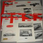 A file of brochures and sales sheets relating to Allard cars,
