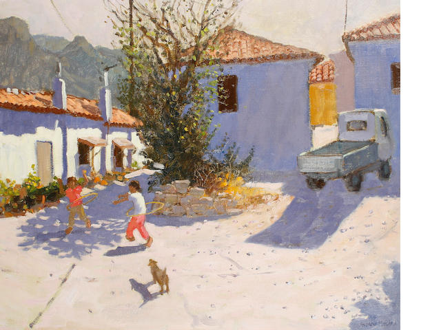 Andrew Macara (British, born 1944) Children playing in Samos