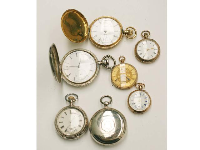 Seven assorted pocket watches,