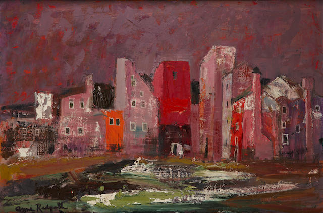 Anne Redpath, OBE RSA ARA LLD ARWS ROI RBA (British, 1895-1965) 'Houses on the Lagoon Murano'