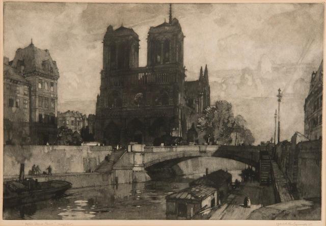 Leonard Russell Squirrell, R.W.S., R.I., R.E. (British, 1893-1979) 'Notre Dame, Paris'