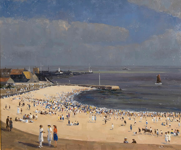 Campbell Archibald Mellon (British, 1876-1955) August bank holiday, Gorleston