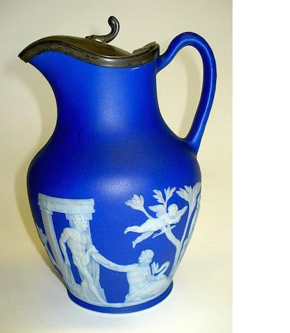 A Wedgwood Jasperware Portland vase style jug Dated 1893