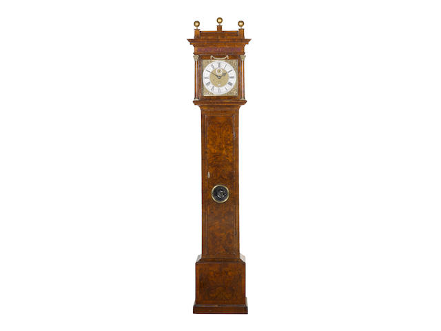 An early 18th century longcase dial and movement by Thomas Tompion now contained in an associated walnut case The dial and movement circa 1709 by Thomas Tompion, London, number 489
