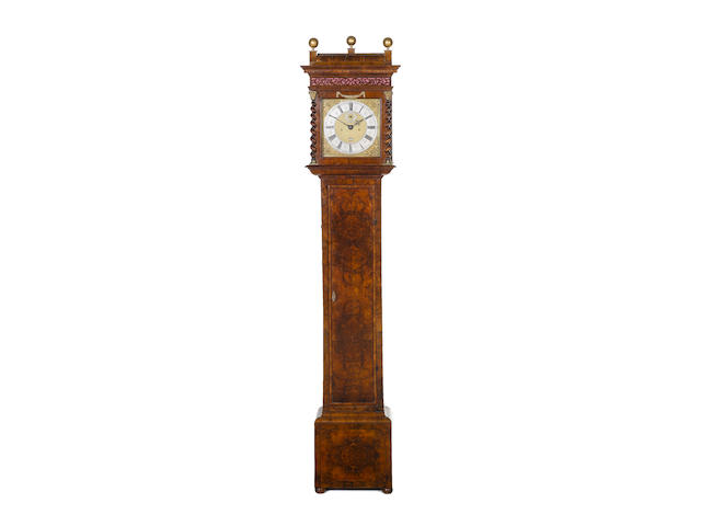 A late 17th century and later walnut longcase clock The dial and movement late 17th century by Thomas Tompion, now contained in a later custom made case