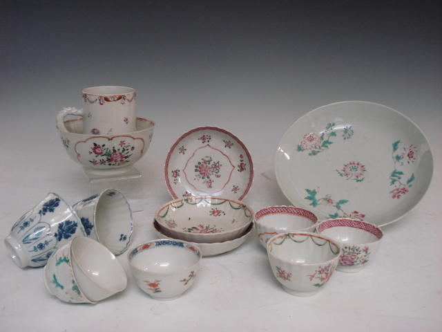 A group of mainly 18th Century teawares
