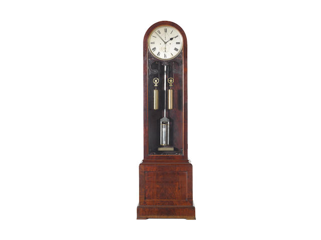 A good mid 19th Century floorstanding striking mahogany regulator