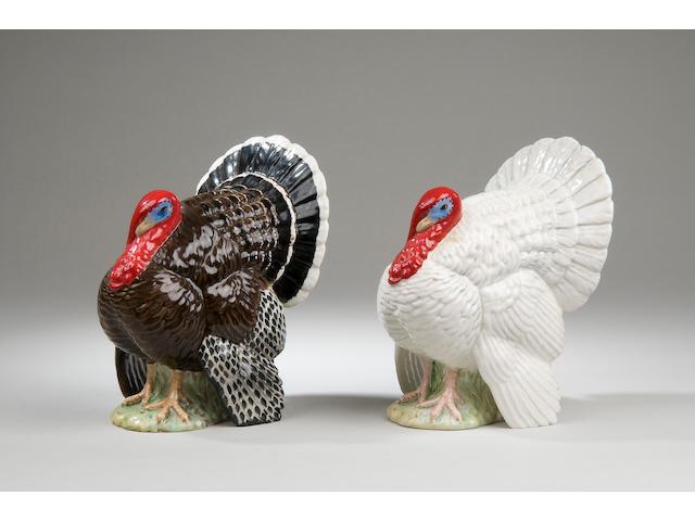 Two Beswick models of turkeys Model number 1957