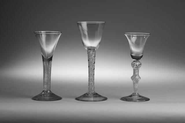 An airtwist wine glass circa 1760