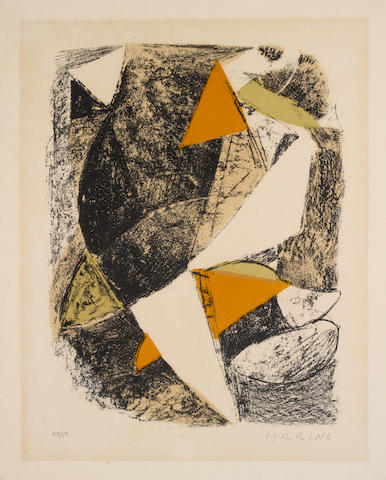 Marino Marini (Italian, 1901-1980) XX Siècle, n.21 Lithograph in colours, 1963, on BFK Rives, signed and numbered 42/50 in pencil, 305 x 230mm (12 x 13in)(I)