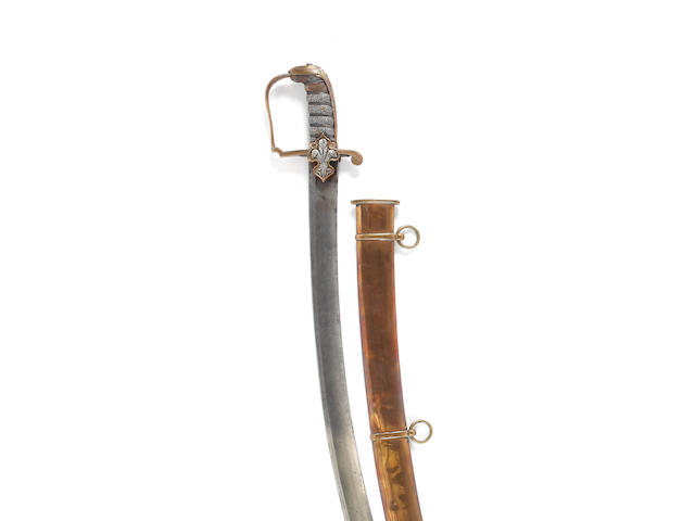 A Rare Regimental 1796 Pattern Light Cavalry Officer's Sabre Of The 10th (Prince of Wales Own) Light