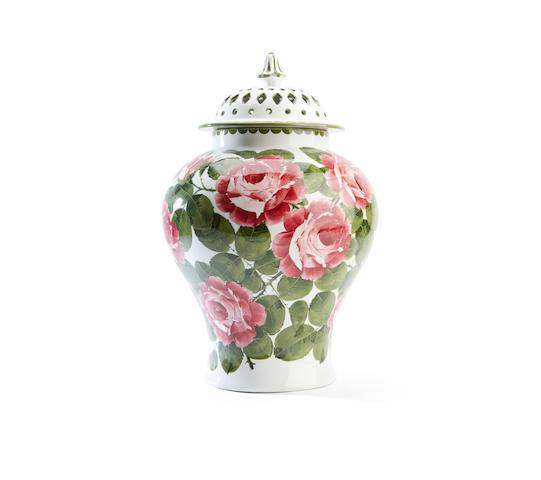 A Wemyss pot pourri vase