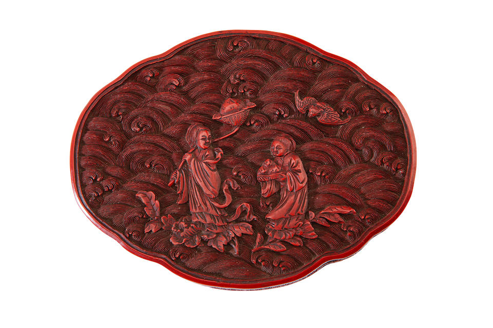Two cinnabar lacquer boxes 19th century