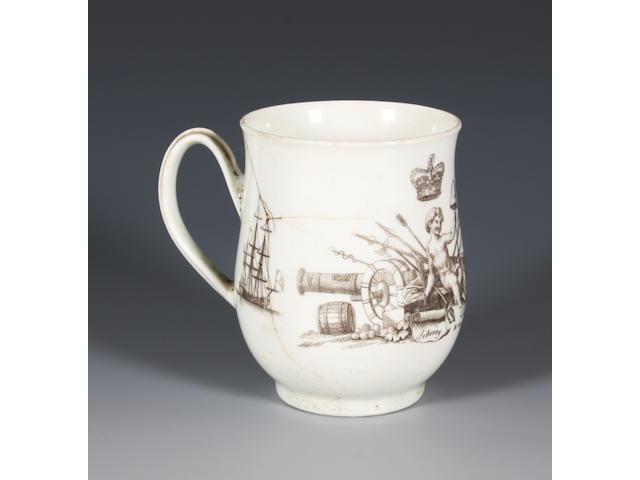 A Worcester George II mug Circa 1760