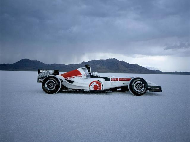 The Formula 1 Land Speed Record-holding,2006 Honda RA106 'Bonneville 400' Monoposto  Chassis no. to be advised Engine no. to be advised