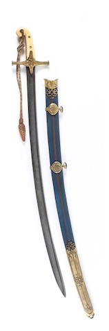 An 1822 Pattern Lancer Officer's Full Dress Mameluke Sabre To The 17th Lancers