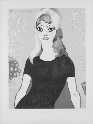 Kees van Dongen (Dutch, 1877-1968) Bridget Bardot Lithograph in colours, 1964, on Arches signed in blue ballpoint pen, inscribed 'EA' in pencil, 580 x 440mm (22 3/4 x 17 1/4in)(I) unframed
