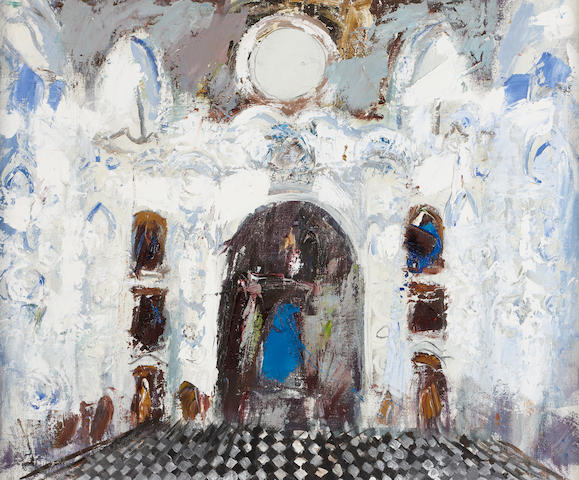 "Anne Redpath, OBE RSA ARA LLD ARWS ROI RBA (British, 1895-1965) ""In a Baroque Church Lisbon"""