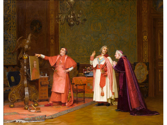 Jehan Georges Vibert (French, 1840-1902) Painted by himself