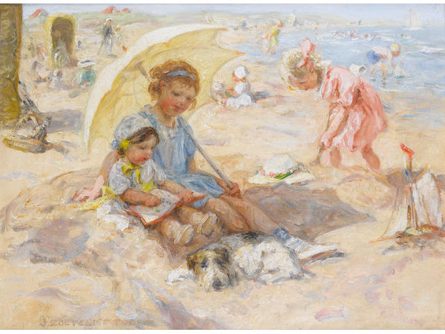 Johann Zoetelief Tromp (Dutch, 1872-1947) A day at the seaside
