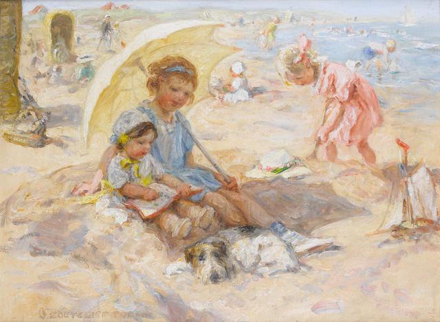 Johann Zoetelief Tromp (Dutch, 1872-1947) A day at the seaside