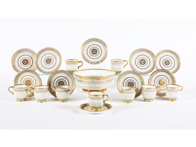 A Sèvres part coffee service Dated 1834-1836.